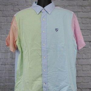 Cremieux Classics Pastel Colorblock Shirt Large